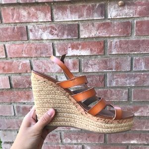 3/ 25 New Mossimo Target Tan Wedge Strappy heel